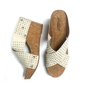Lucky Brand Studded Cork Wedge. Size 9